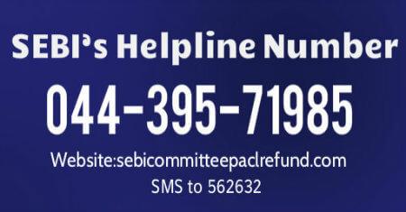 PACL-SEBI Helpline Number