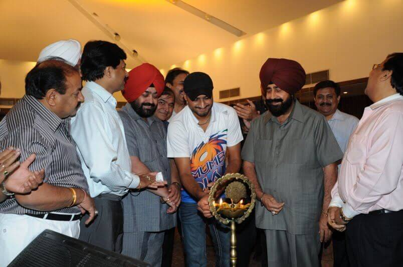 Harbajan Lighting Lamp with P7 News Directors nirmal singh bhangoo