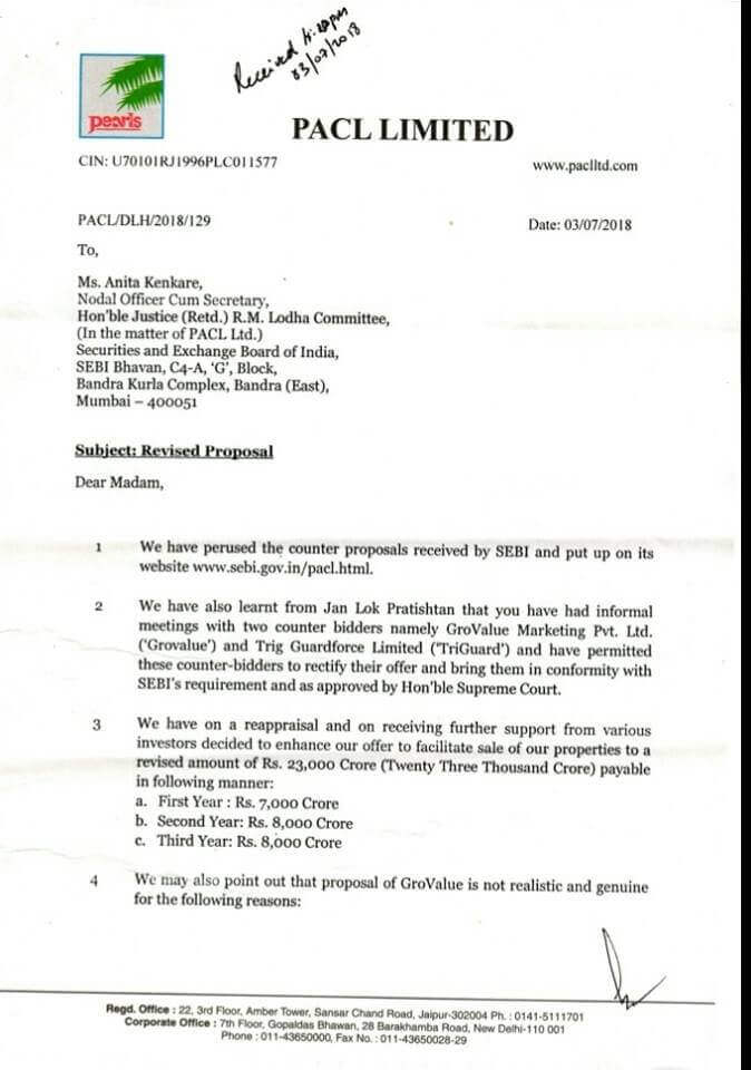 PACL properties bids