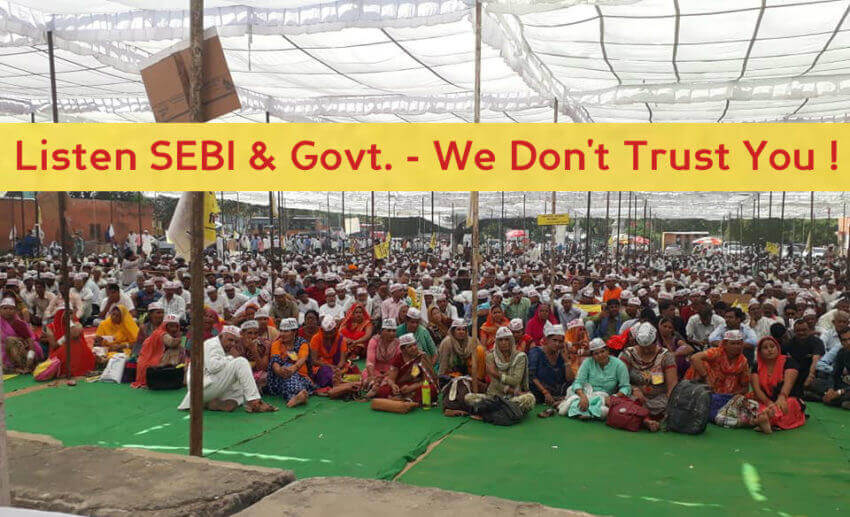Listen SEBI & Govt. - We Don't Trust You