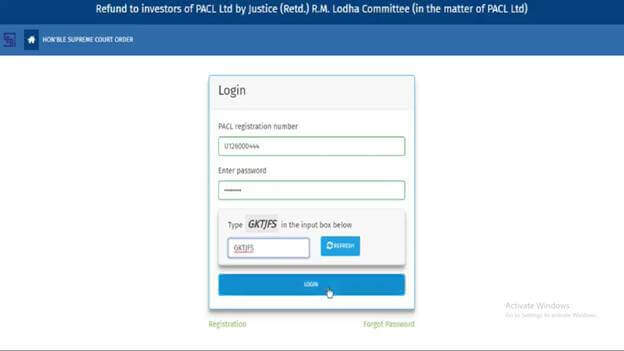 PACL Refund From Online